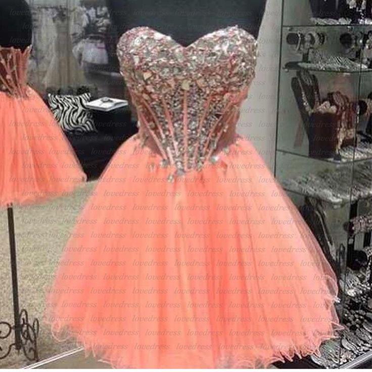 Peach homecoming dress, short homecoming dresses, junior homecoming dress, cheap prom dress, prom dress online, 2015 prom dress, CM607