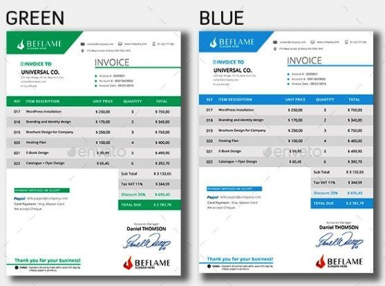 60 best Invoice Template Designs Download images on Pinterest - product invoice template