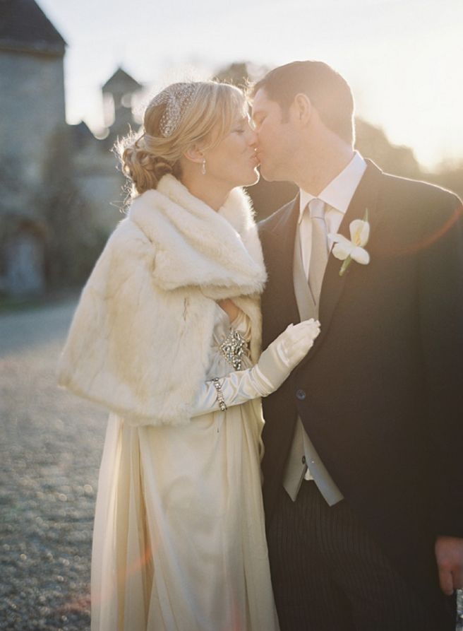 wedding dress with glove