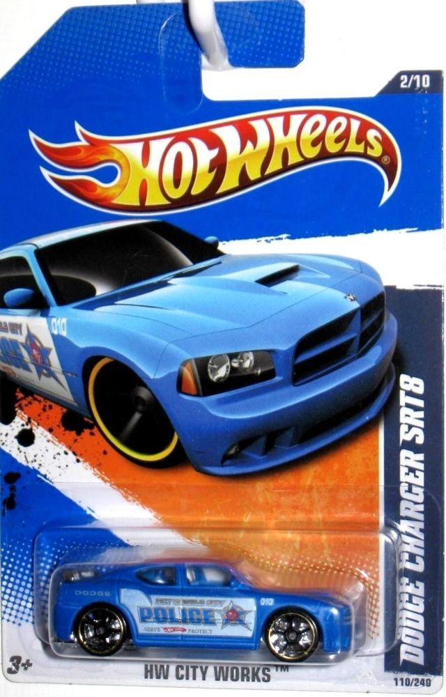 Charger Srt8 For Sale >> Dodge Charger SRT8 Hot Wheels 2010 HW City Works #02/10 Blue & White Police Car #HotWheels # ...