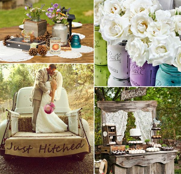 Rustic Country Wedding Ideas: Top 8 Trending Wedding Theme Ideas 2014