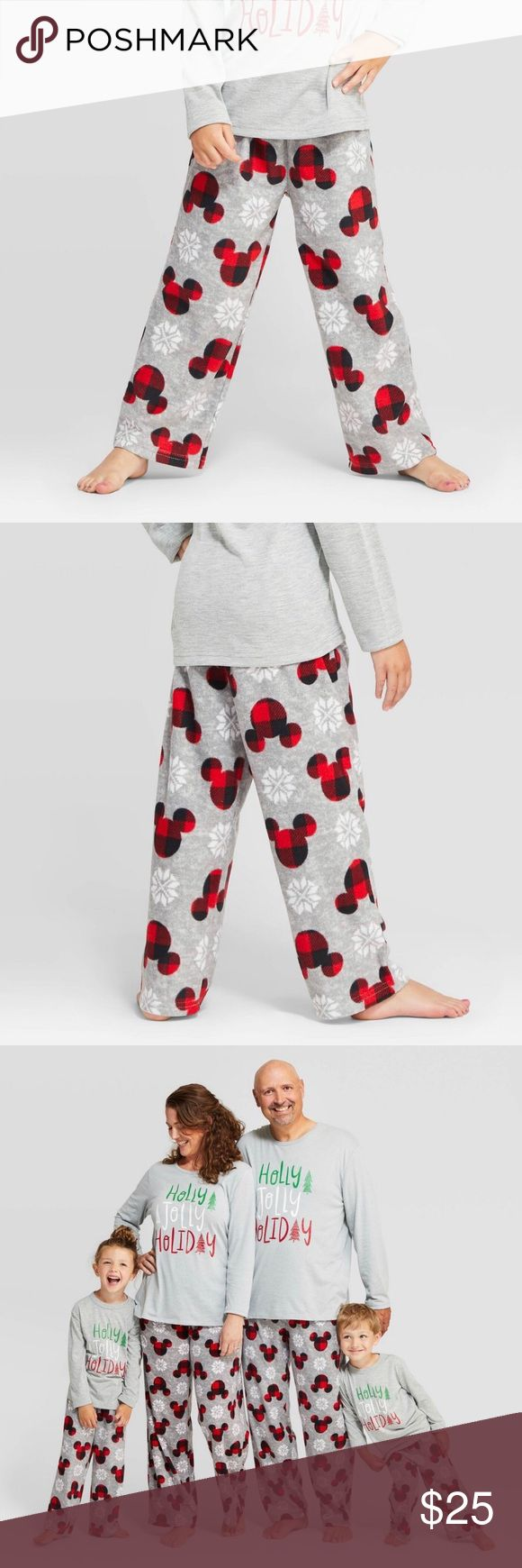 Disney Mickey Holiday Snowflake fleece Pajama Pant in 2020