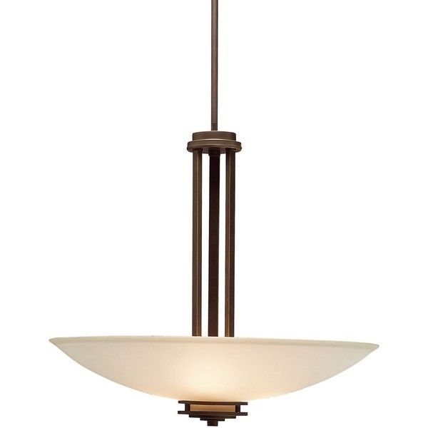 """Kichler Hendrik Bronze 24"""" Wide Pendant Chandelier ($407) ❤ liked on Polyvore featuring home, lighting, ceiling lights, brown, chandeliers, bronze light, contemporary pendant light, bronze ceiling lights, contemporary light and contemporary ceiling lights"""