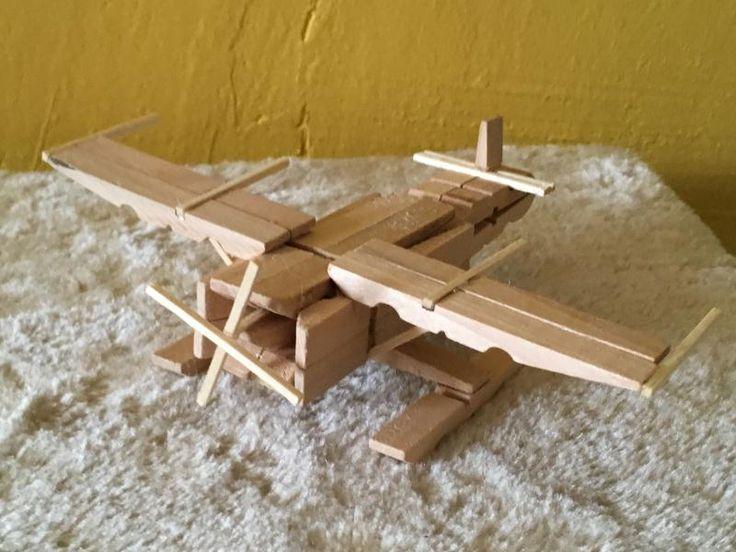 Les 25 meilleures id es de la cat gorie avion baton de - Baton de glace en bois pour creation ...