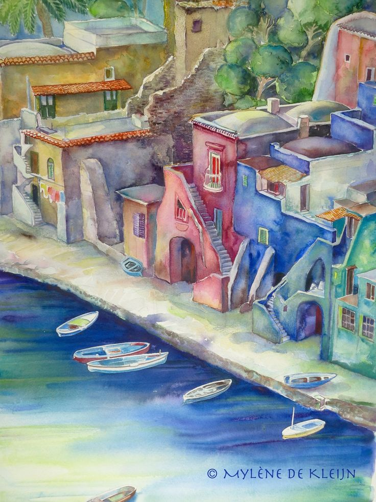 Amalfi in Italy, 75 cm/ 55 cm