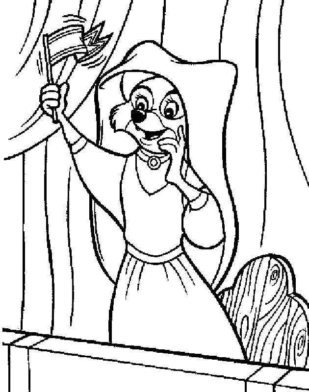 lovely disney robin hood coloring pages for kids  best