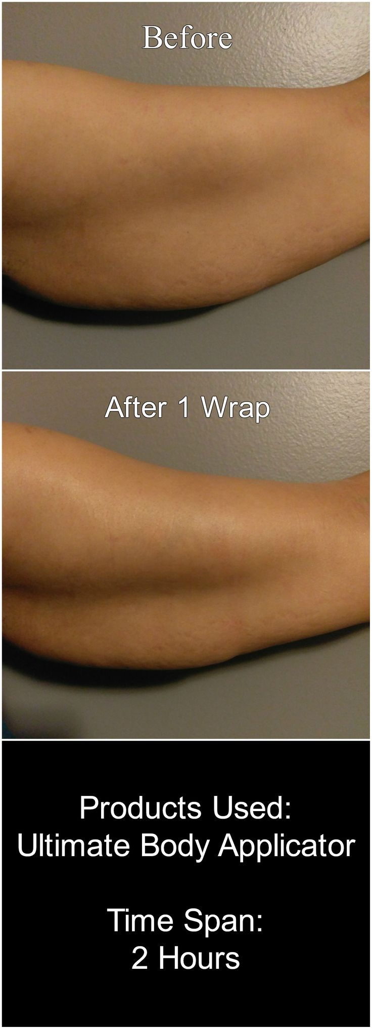 A happy customer makes a happy me. This is the results of using 1 wrap of the Ultimate Body Applicator. Each pack comes with 4 wraps so image the results when she uses the full treatment!!! http://natalielima.itworks.com/shop/product/111 Contact me for more details: nl.natalielima@gmail.com