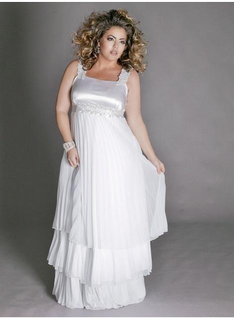 Trendy Plus Size Madelaine Chiffon Wedding Dress image