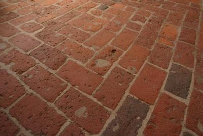 Brick flooring-Love it!!: Brick Floors, Wet Rooms, Removal Brick, Home Interiors, Installations Brick, Brick Flooring, Lay Brick, Laundry Rooms, Floors Hold