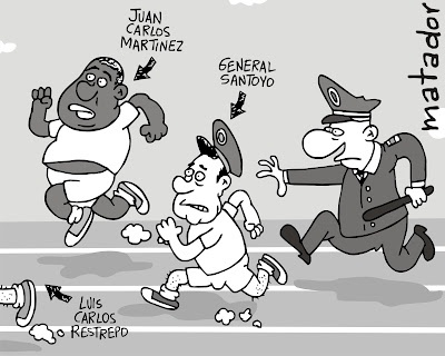 """Huidas olímpicas"" Del blog de Matador cartoons"