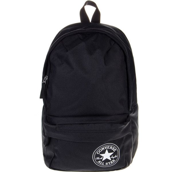 Converse All Star Mini Backpack (Black/White) ($31) ❤ liked on Polyvore featuring bags, backpacks, backpacks bags, mini backpack, black and white bag, converse backpack and black white bag