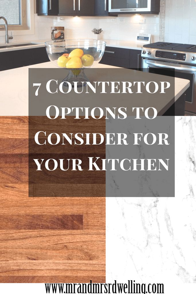 25 best ideas about countertop options on pinterest kitchen countertop options marble Kitchen countertop choices