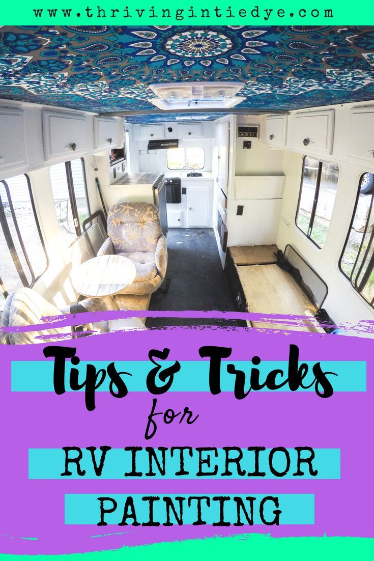 Tips For Painting Rv Walls And Cabinets Paint Rv Remodeled