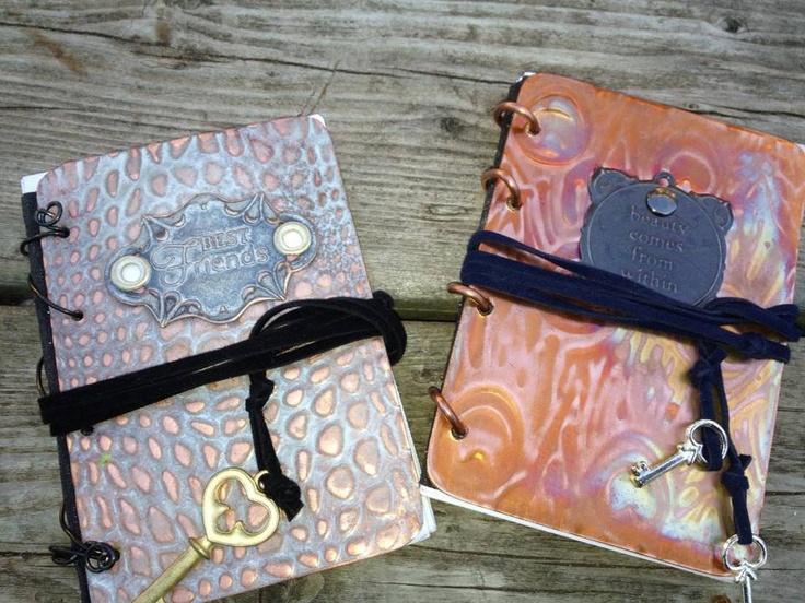 Handbound and Unique Copper field journals from Stashbug