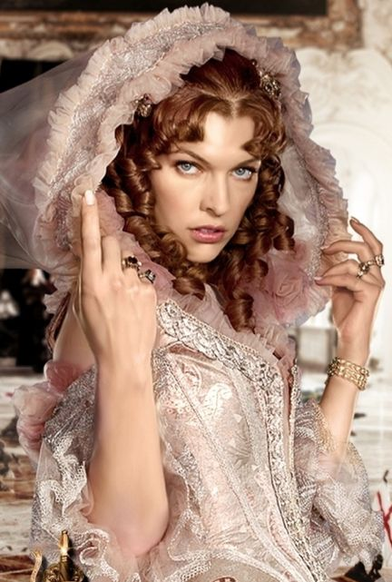 """#MillaJovovich as Milady de Winter in """"The Three Musketeers"""" (2011)."""
