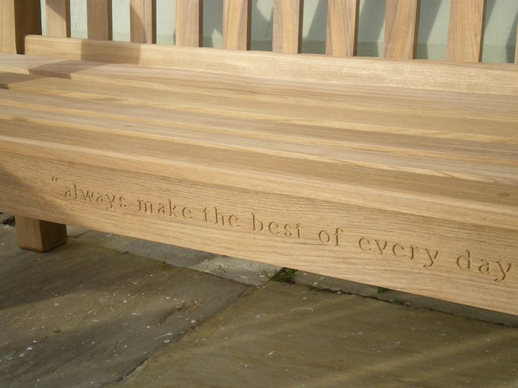 We love this personalised engraved memorial bench www.memorialbenches.org