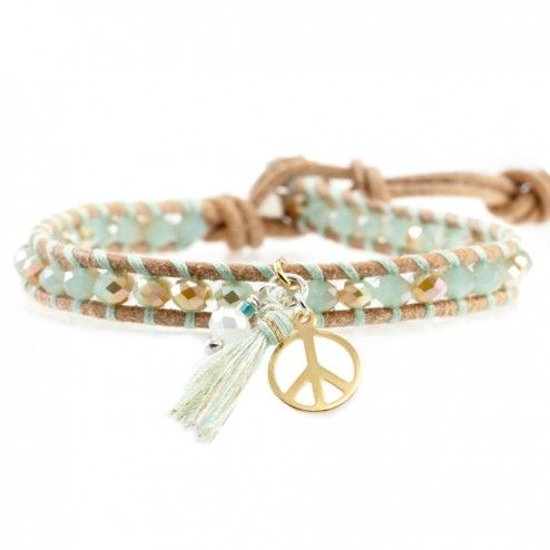 Chan Luu Mint Mix Peace Charm Bracelet