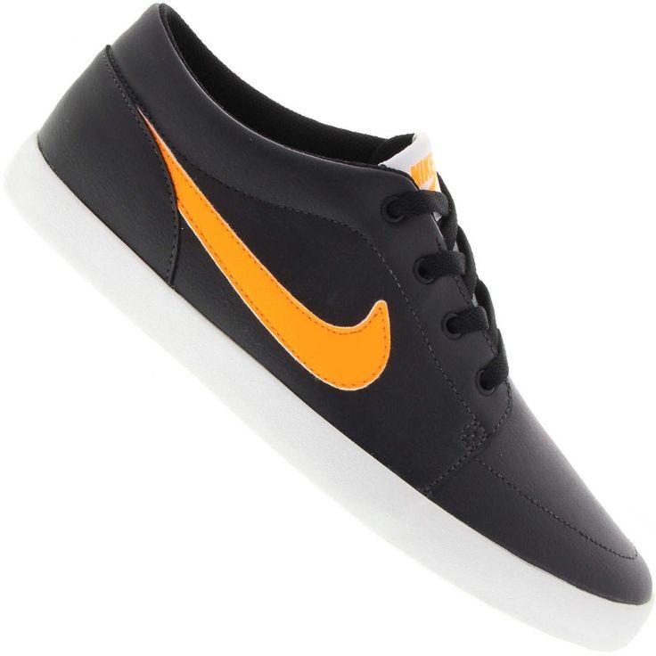 Tênis Nike Futslide SL Casual Masculino Preto / Laranja