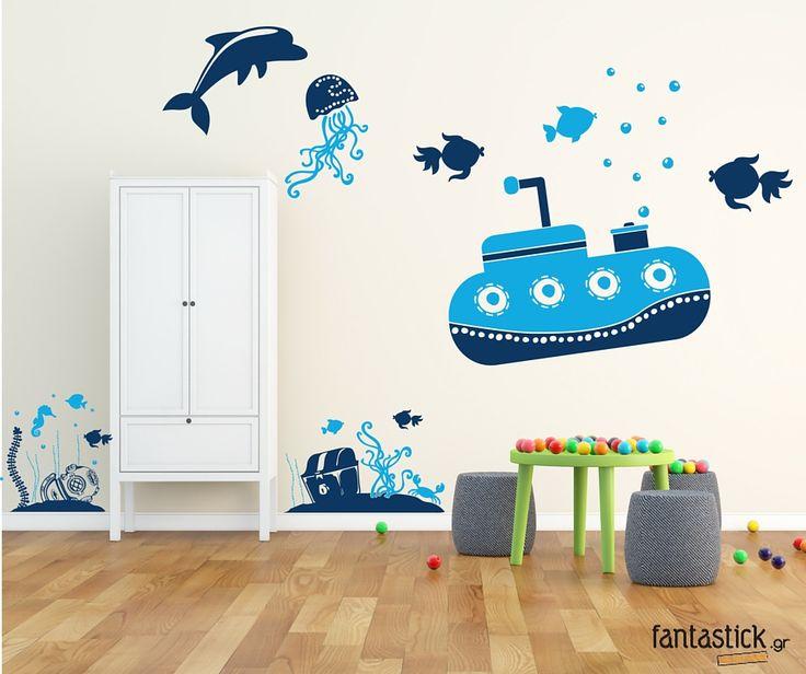 Underwater world #fantastick #onyourwall #wallart #sticker #kids #homedeco