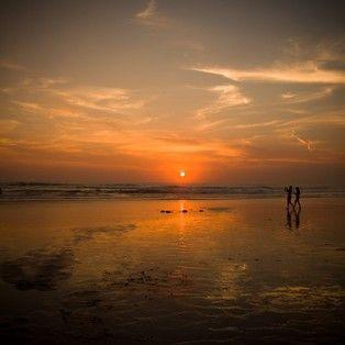 Beautiful sunset at Kuta beach, Bali. One of the most romantic island in the world, #burufly #sunset #nature