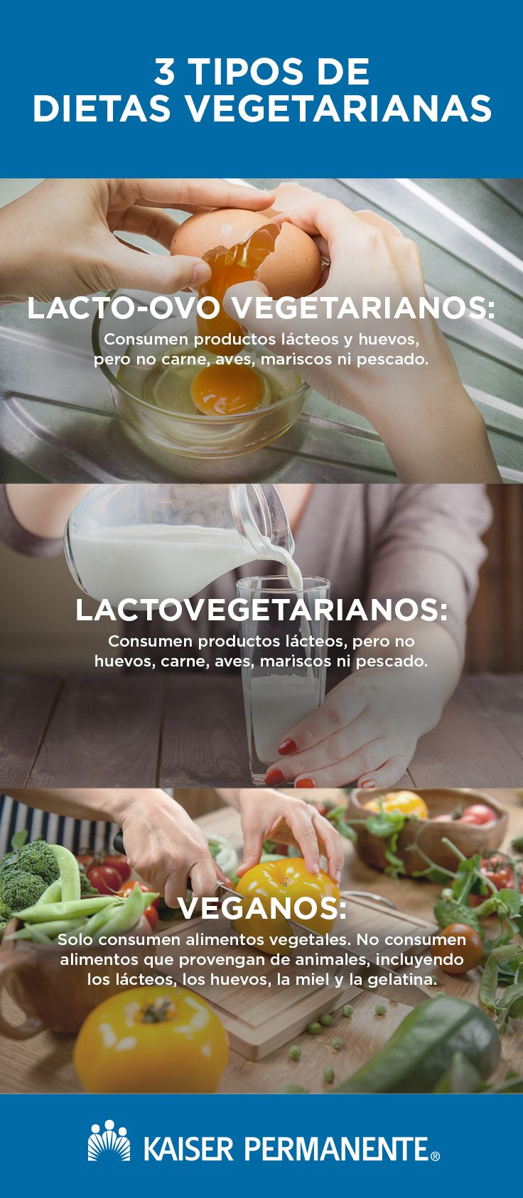 Tipos de dietas vegetarianas vegana