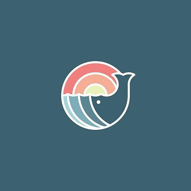 """Repost @quillocreative  234/365: Sunset Whale  This logo combined a few of my favorite elements and/or techniques in a logo.  Substitution: The whale doubles as the ocean for the sunset. The tail specifically is also a wave.  Gradients: The """"water"""" and """"sunlight"""" have gradients that fade in opposing directions.  Thick lines: Make each individual color stand out and can be seen as sea foam.  #adobe #behance #dribbble #quillocreative by instagram.com/kreasiapparel"""