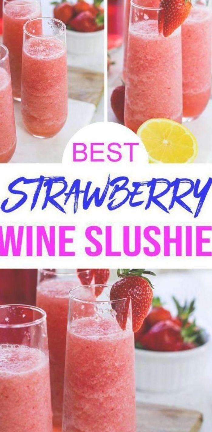 Wein Slushie Cocktail! Easy Wine Slushie alkoholisches Rezept für das beste Getränk. Wi …