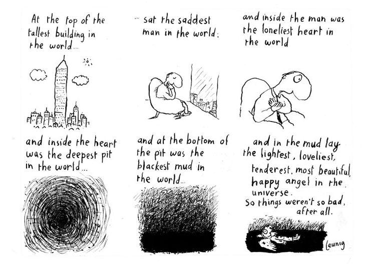 "Michael Leunig cartoon ""At The Top"" #cartoon #story"