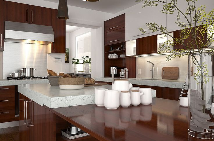 OP15-M08: Lacquer and Melamine Kitchen Cabinet
