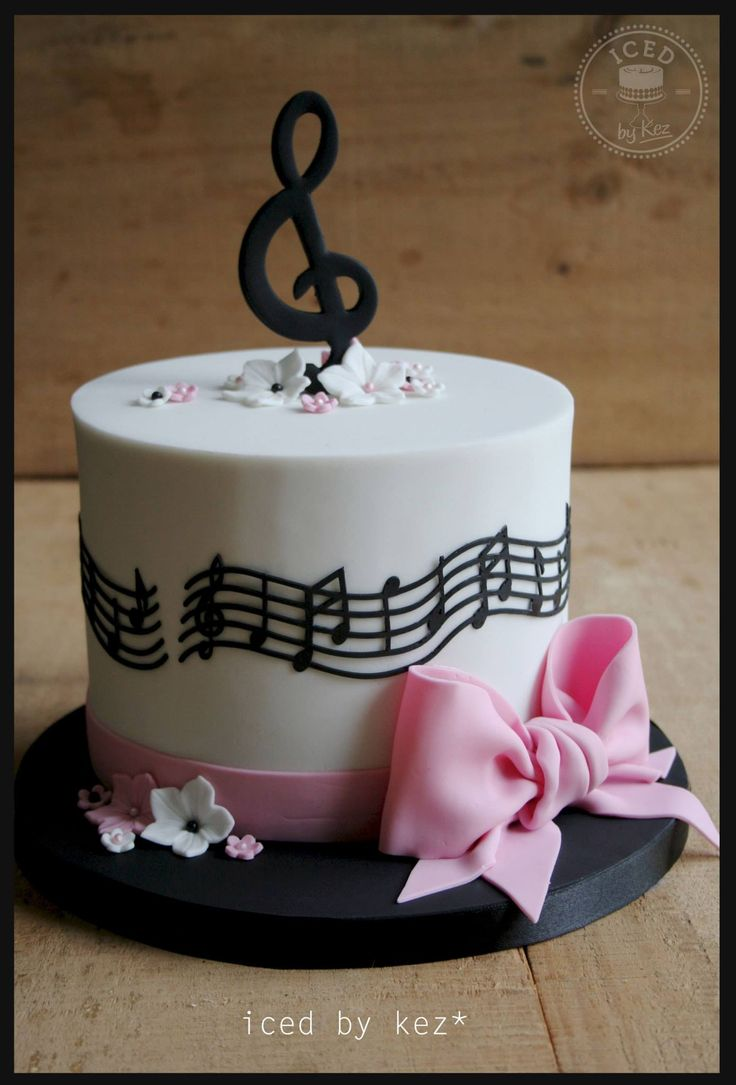 Cake Design Musical Notes : 276 best Cakes for Music Lovers images on Pinterest ...