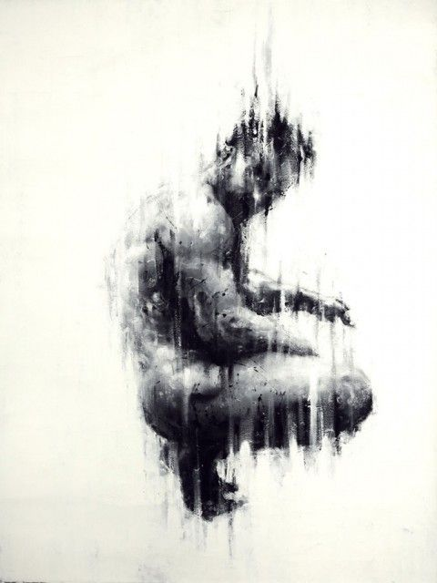 Finger painting by Paolo Troilo perspire nothing but energy.