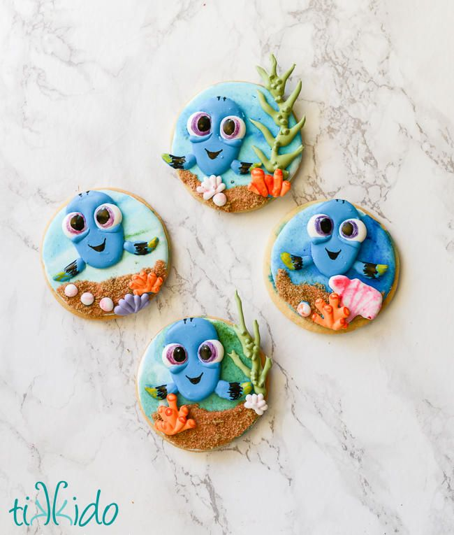 Finding Dory Baby Dory cookies by Tikkido