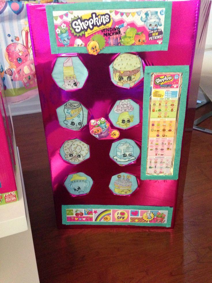 Diy shopkins vending machine!