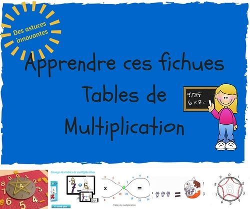 272 best multiplication images on pinterest math for Les tables de multiplication
