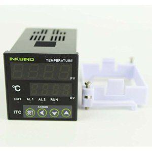 Inkbird 220V Double Relais Numérique PID Thermostat Température Contrôleur ITC-100VH + K Capteur Sonde + 40DA SSR Sortie Relais Statique,…