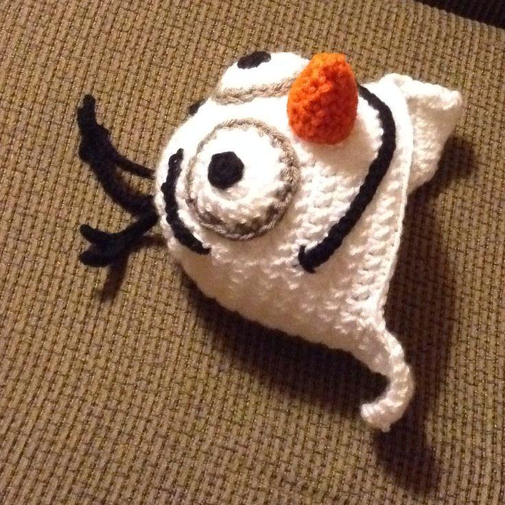 Crochet Olaf Frozen hat - free pattern.
