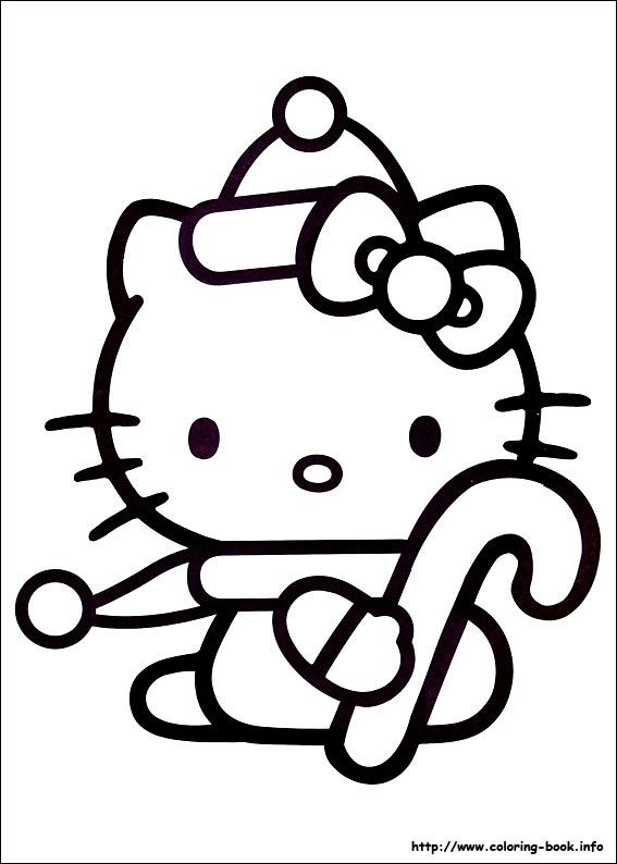 Hello Kitty In Christmas Coloring Pages