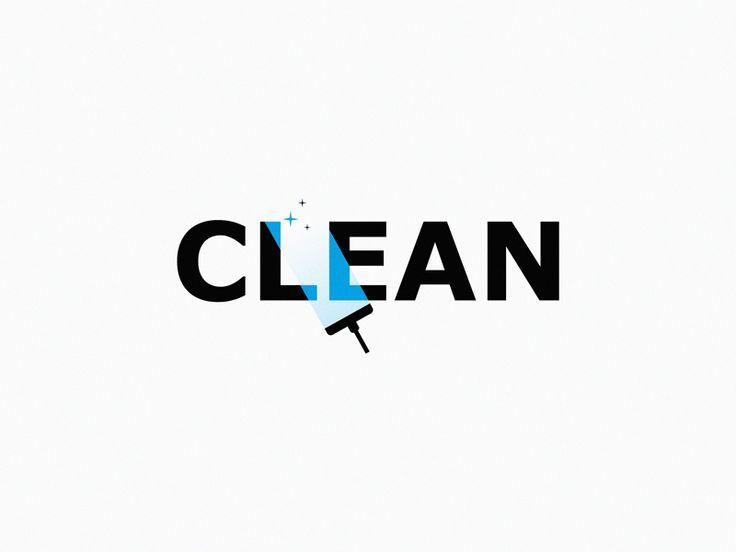 Clean By Yuri Kartashev Dribbble Dribbble Typographic Logo Design Text Logo Design Cleaning Logo