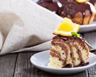 Gâteau zébré chocolat-citron