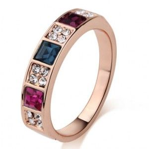 Multistone beautiful cubic zirconium Ring for Her Maybe just a bit too big though.