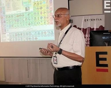 Prof. K. N. Ganesh, the founding director of Indian Institute of Science Education and Research, addressed Extentians at a breakfast talk on August 31. He has served on several important national and international committees and has published 150 research papers in internationally reputed journals. Prof. Ganesh spoke about the origin of nanotechnology and its implications in the modern world.​​
