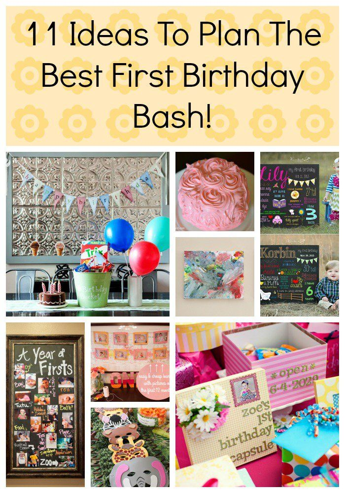 11 Ideas To Plan The Best First Birthday Bash! pin