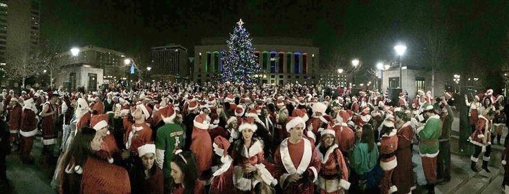 DEC. 10, 2016 - Nashville's Santa Rampage starting at Public Square Park in Nashville, Tennessee.