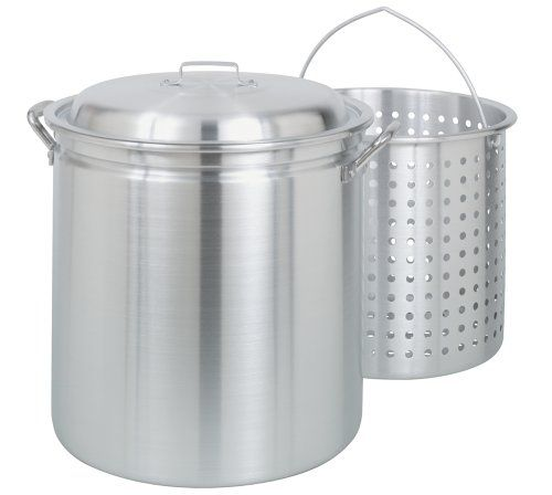 Bayou Classic 4060 60-Quart All Purpose Aluminum Stockpot with Steam and Boil Basket Bayou Classic http://smile.amazon.com/dp/B0000BXHL4/ref=cm_sw_r_pi_dp_f40Eub0FXG71T