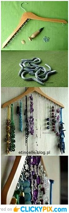 Amazing Diy Idea I need a place to hang my necklaces!!!! This is perfect!!!!