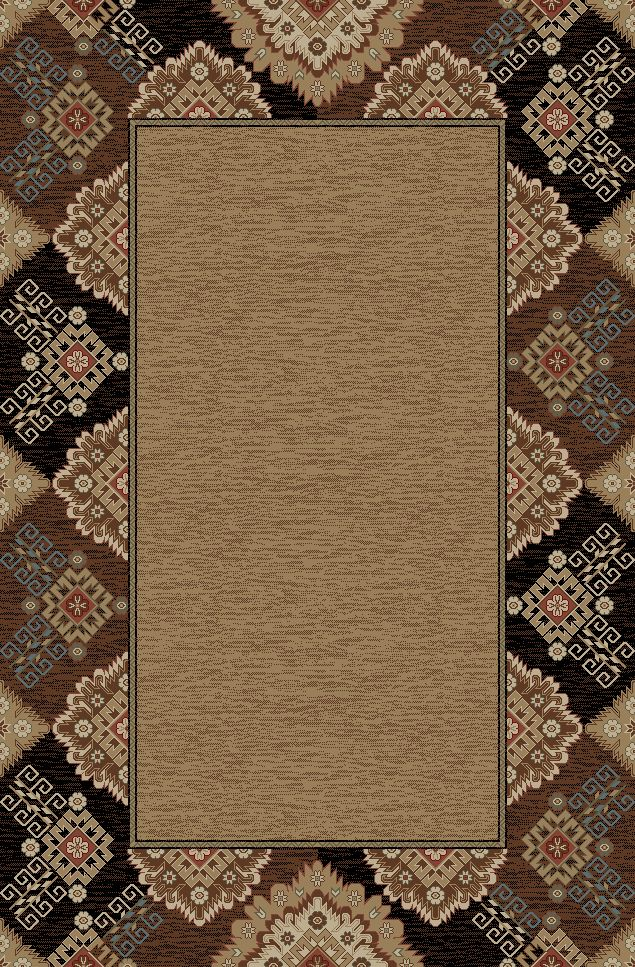 "Dean Lodge King Tapestry Black Rustic Southwestern Lodge Cabin Ranch Area Rug Size: 7'10"" x 9'10"" - Dean Stair Treads"
