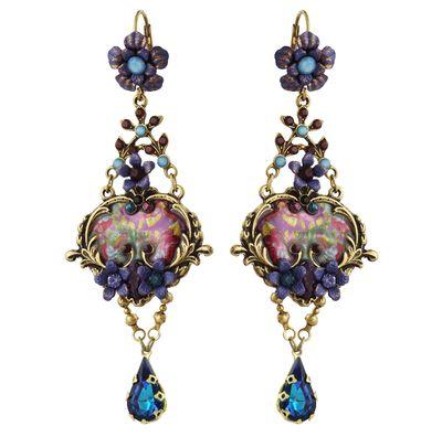 Michal Negrin Jewelry Crystal Hook Earrings