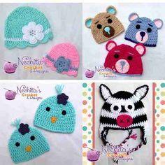 Gorros Tejidos Crochet Para Bebes