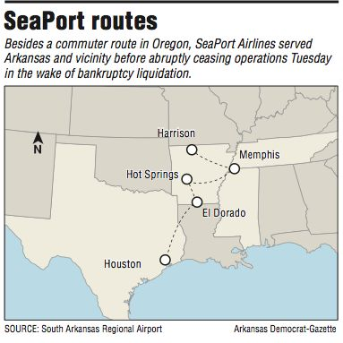 Carrier's end hits airports in state - Arkansas Online