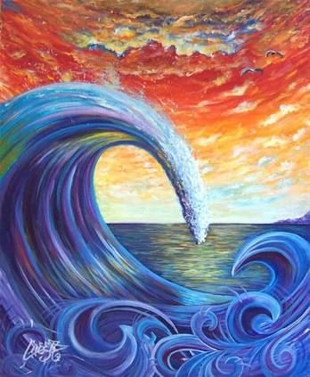 Image result for ocean paintings tumblr